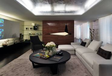 Le Provencale Residences. Luxury living room.