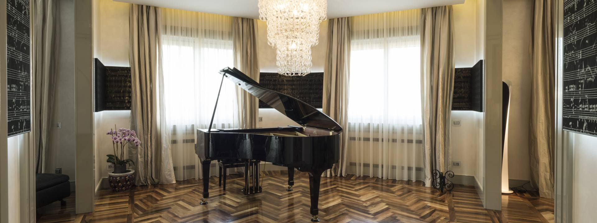Luxury Apartment.  Stunning music room.