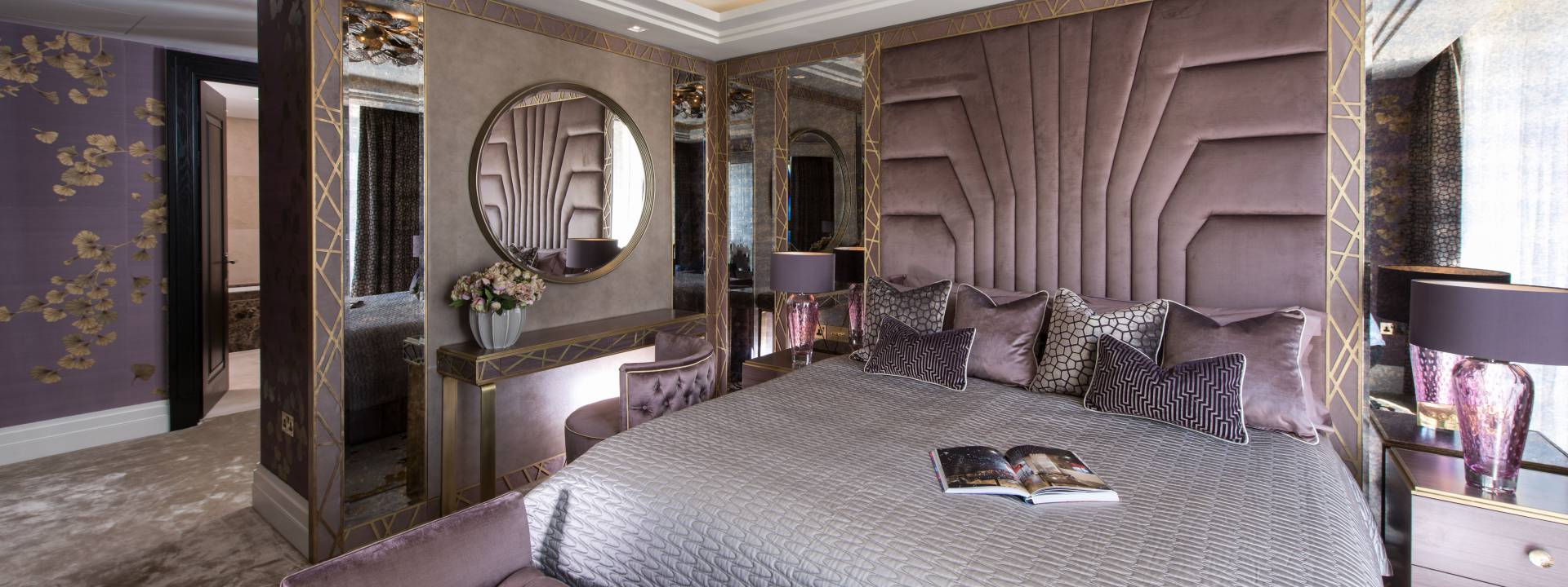 Art Deco Bedroom designed by Yvette Taylor London