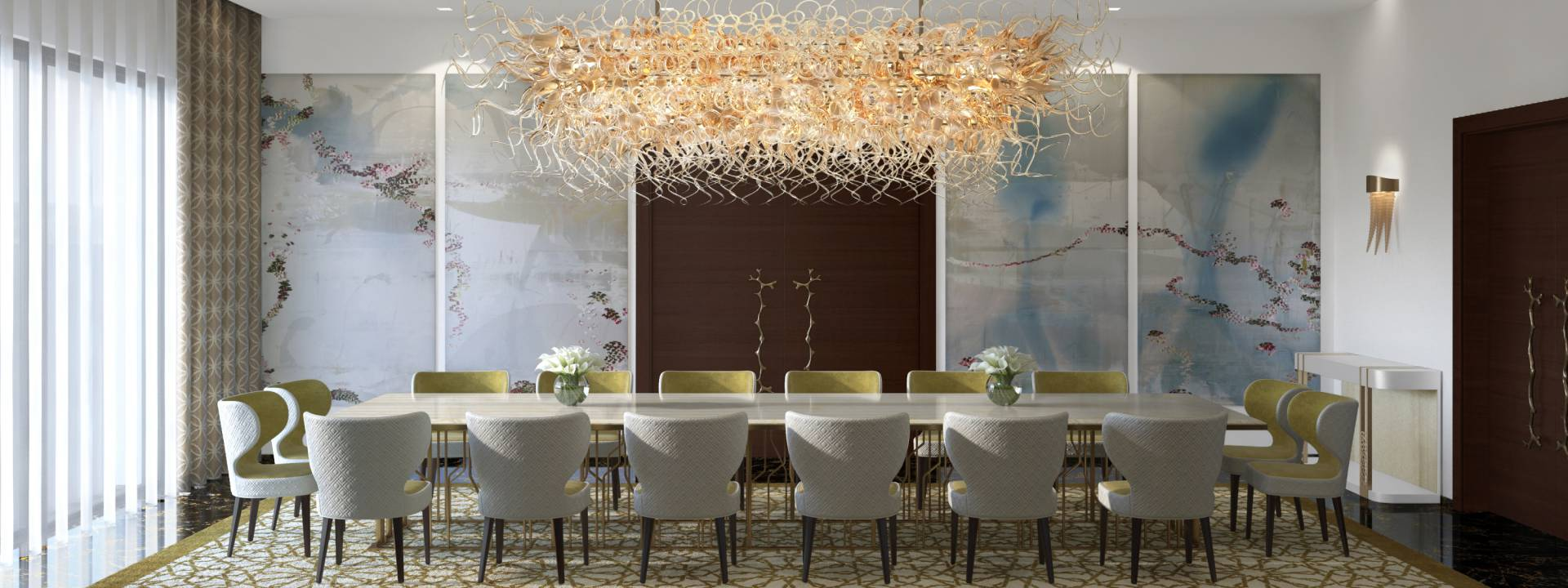 Luxury Dining room deigned by Yvette Taylor London