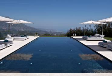 Contemporary Holiday Villa. Stunning swimming pool designed by Yvette Taylor London