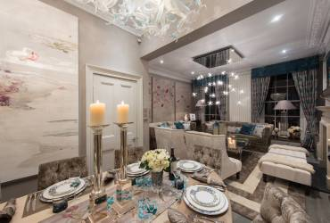 Luxurious Town-house.  Stunning dining room.  Taylor Interiors.