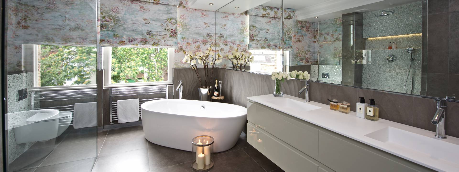 Exquisite Town-house.  Luxury bathroom. Taylor Interiors.