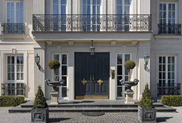 Neoclassical mansion_modern traditional style