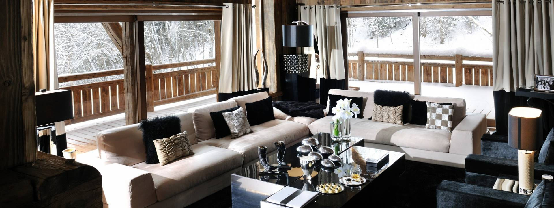 Luxury Winter Chalet, Living room, Switzerland
