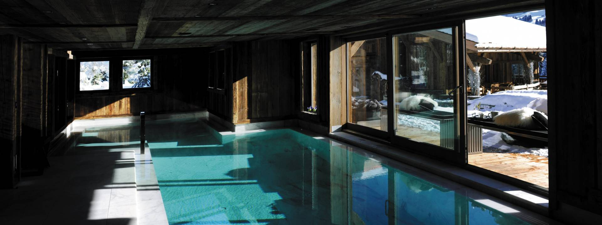 Luxury Winter Chalet, Pool, Switzerland