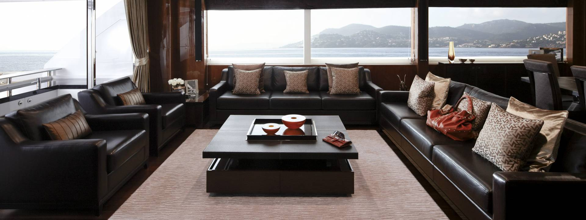 Luxury yacht living room, Yvette Taylor London