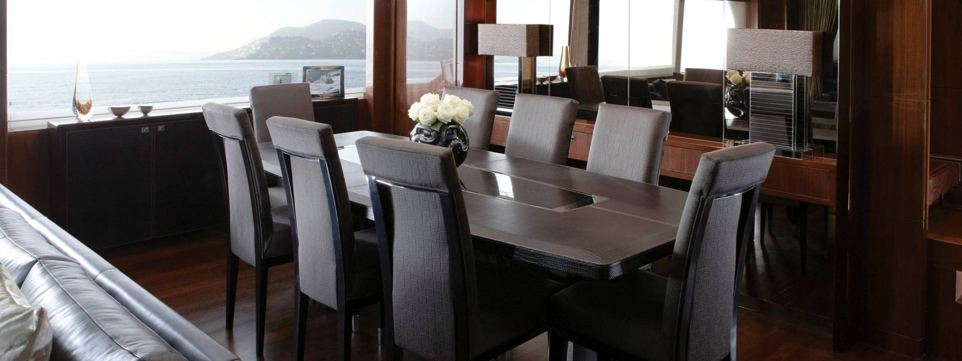 Luxury Yacht Dining Room, Yvette Taylor London